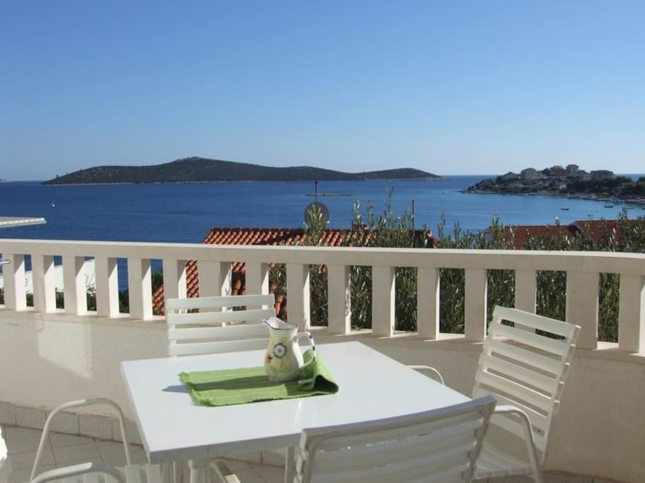 Terrace with fantastic sea-view