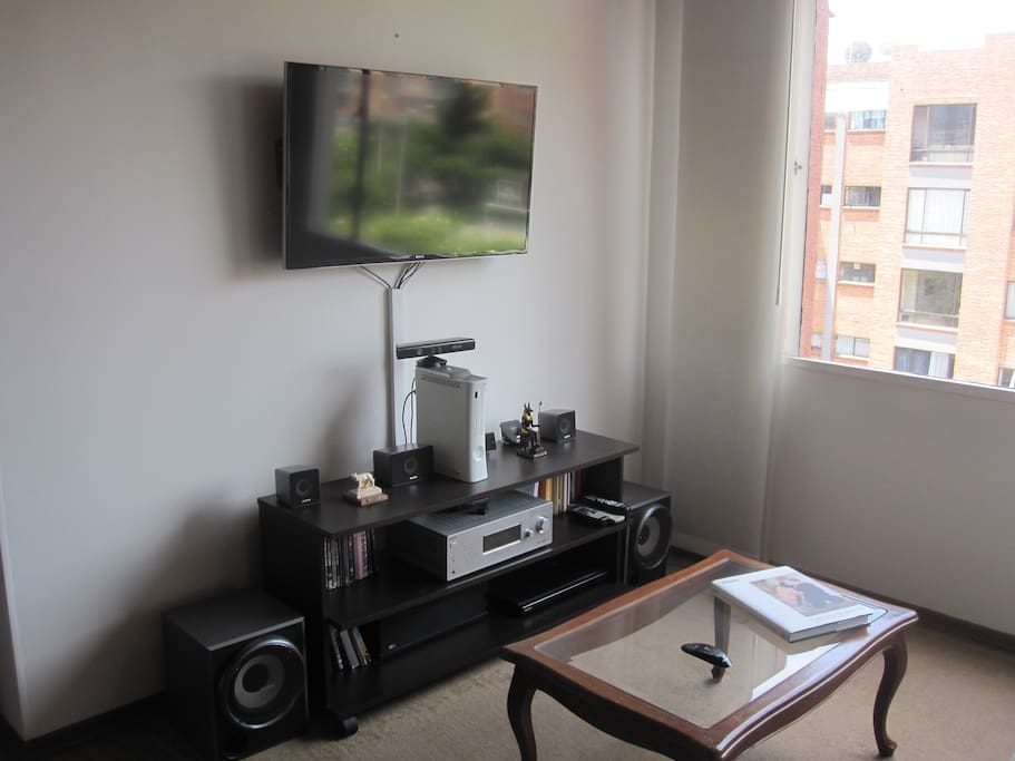 Social area with  TV and home theater