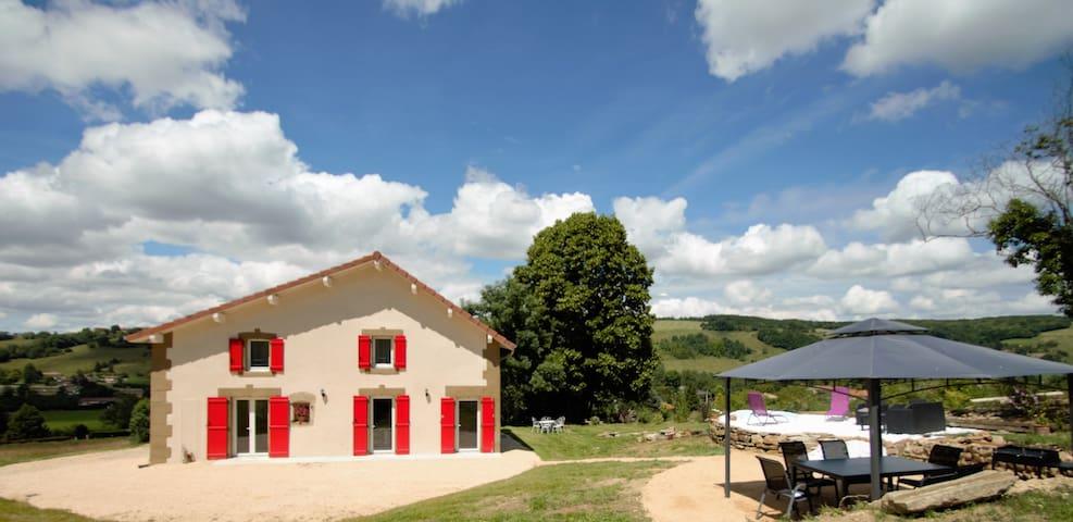 Chambre au coeur des collines avec Spa - Saint-Clair-sur-Galaure - บ้าน