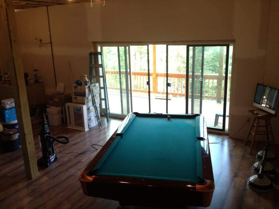 Lower level billiard/darts, lower deck outside