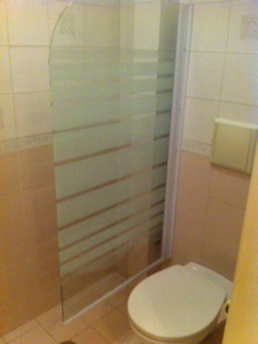 Fully equiped bathroom with shower