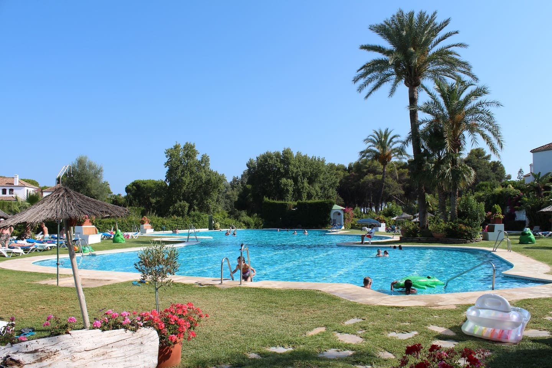 Benamaras large pool 50 meters from the apatment.