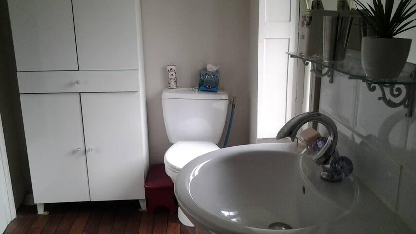 Salle de douche/WC partagée
