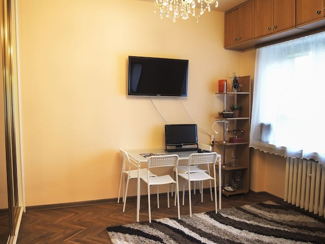Saska Kepa calm apt in green center free parking. - Warsaw - Apartment