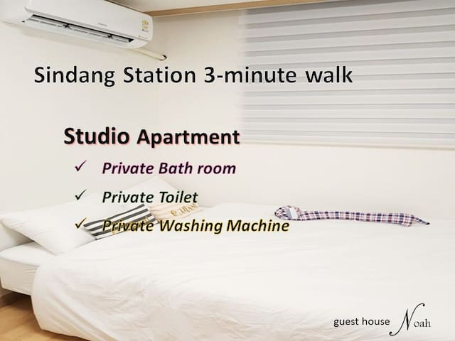 Noah #3 Shindang-st. 3min walk / studio apartment
