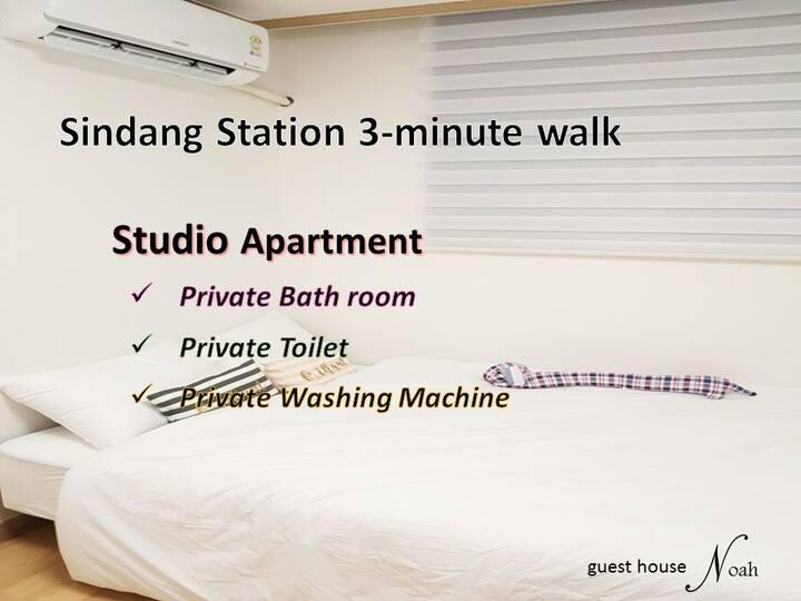 Noah #3 Shindang-st. 3min walk / studio apartment
