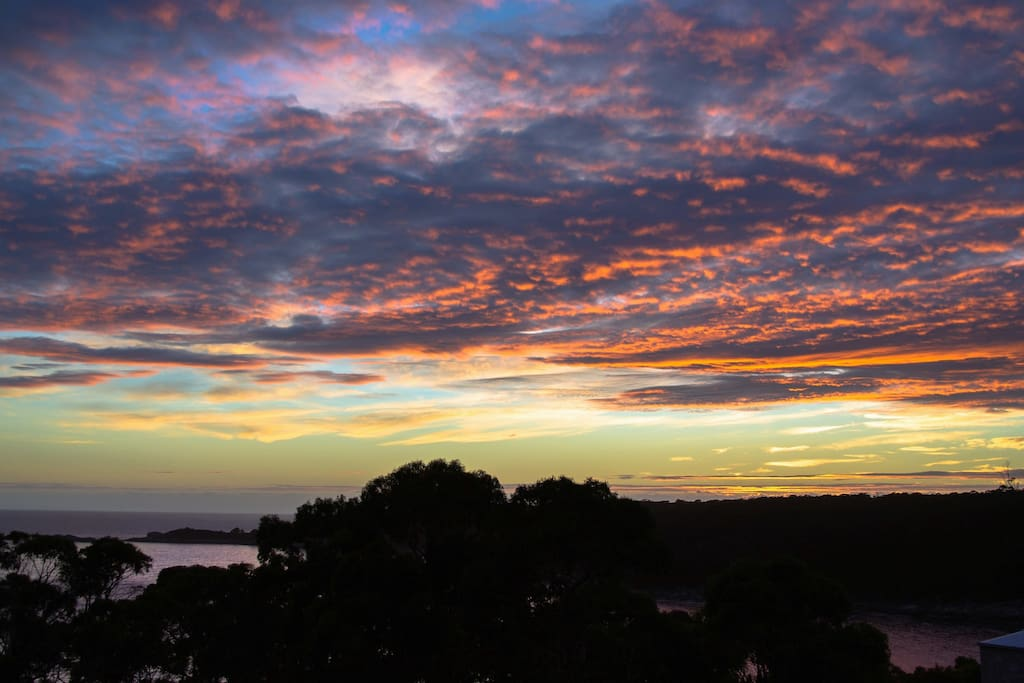 Sunrise is beautiful from Bay of Fires Seachange