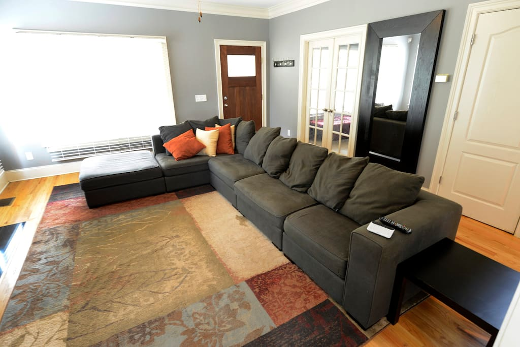 Plenty of space for everyone in the common-area living room.
