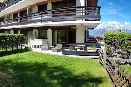 Apartment with Garden and view in Veysonnaz