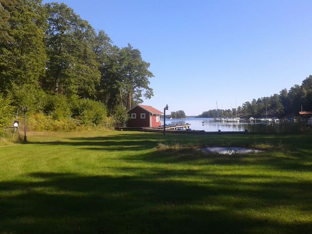 Summer cottage by the waters edge