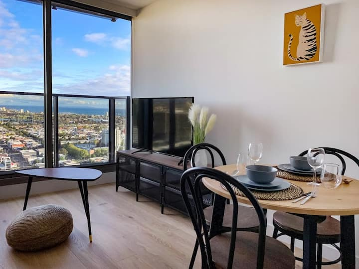 Oceanview Southbank apt close to Crown