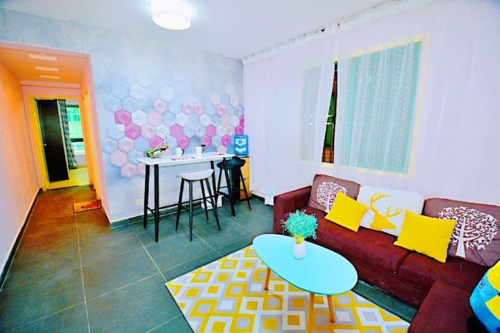 【唯梵•东门町】东门老街|国贸|大剧院|罗湖口岸一室一厅美居 Apartment in Luohu
