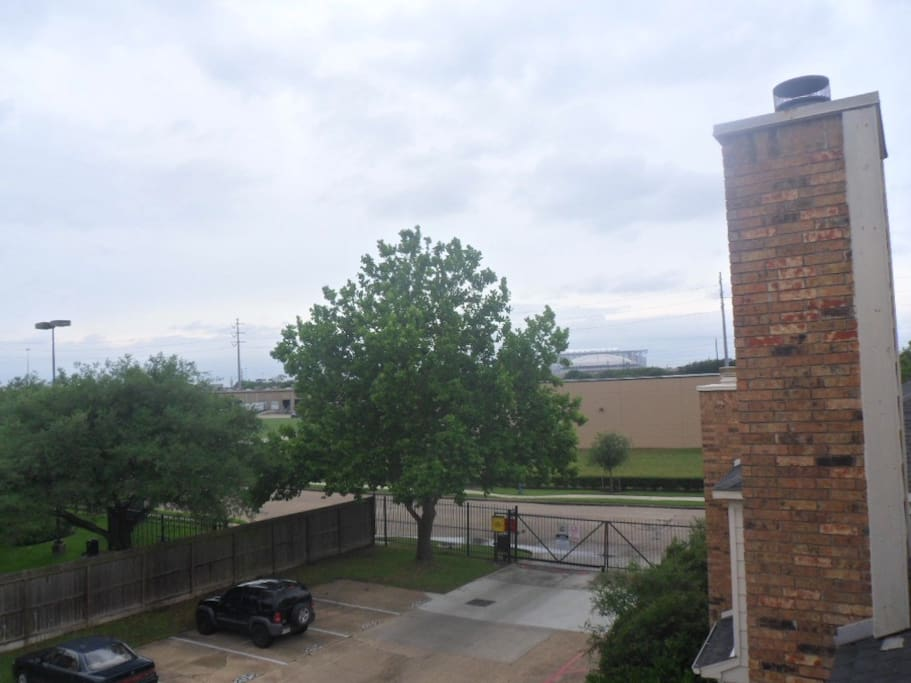 View of NRG from the patio.