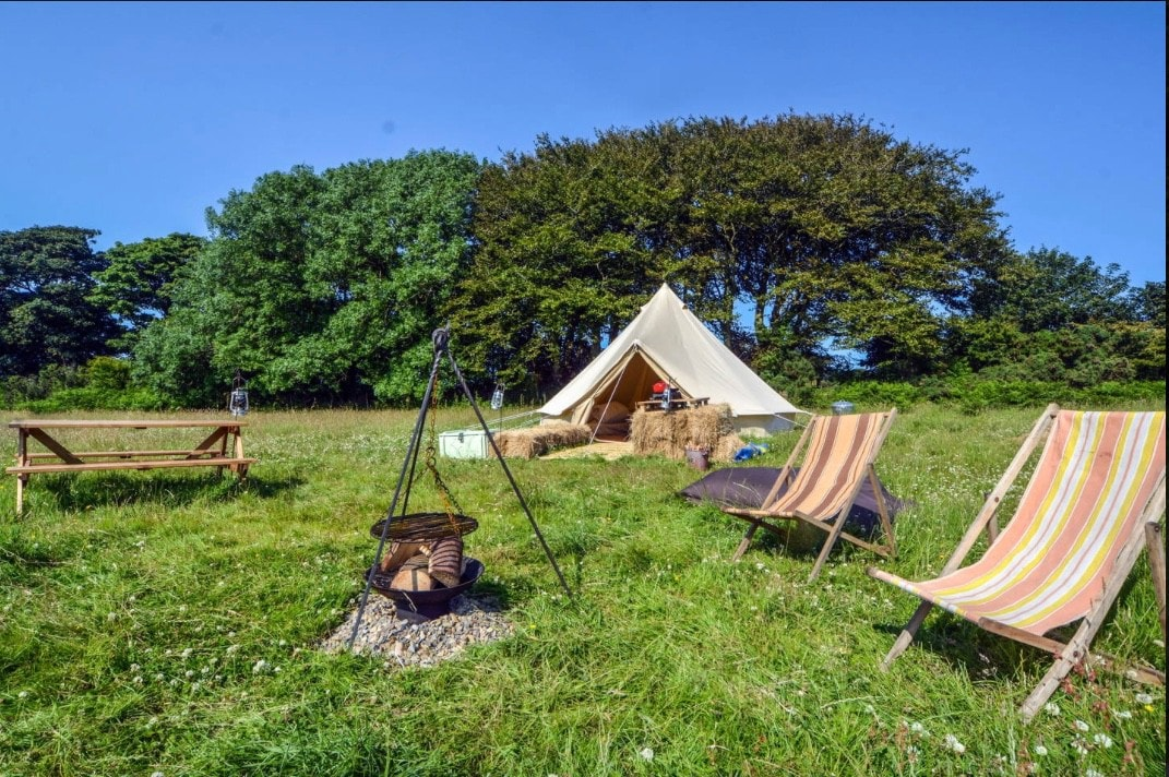 Bell Tents at Sloeberry Farm - No 1 - Tents for Rent in near Aberporth Wales United Kingdom & Bell Tents at Sloeberry Farm - No 1 - Tents for Rent in near ...