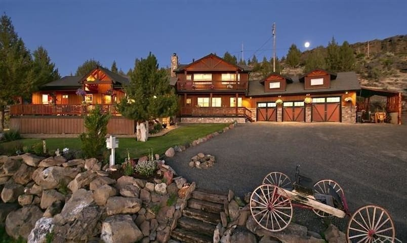 Bend Country Peaceful 9 ac Mt Views, 4BR Fam Lodge - Terrebonne - House