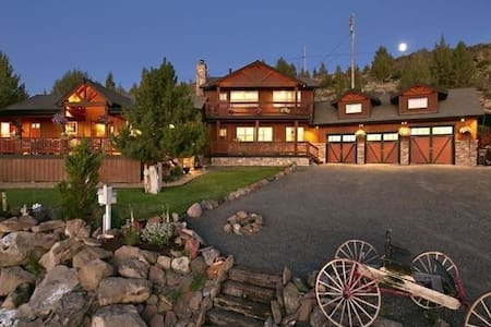 Bend Country Peaceful 9 ac Mt Views, 4BR Fam Lodge - Terrebonne - Casa