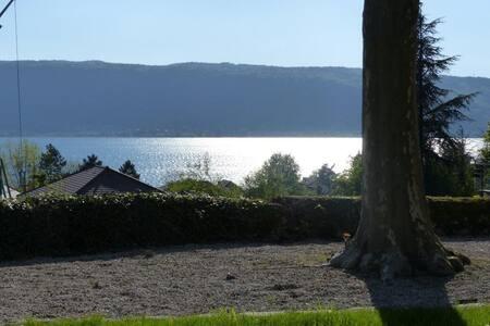 rez de jardin dans parc proximité plage lac annecy - Veyrier-du-Lac
