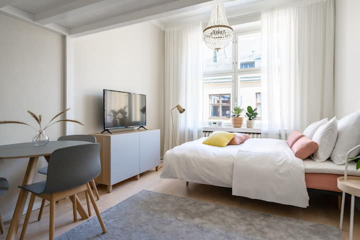 Adorable studio w/ loft bed and sofa bed for max 4