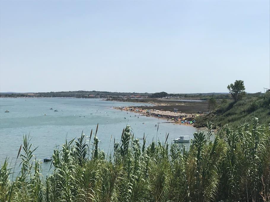 Kraljičina beach - 800m