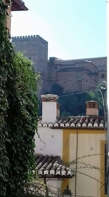 The Alhambra just in front of the house