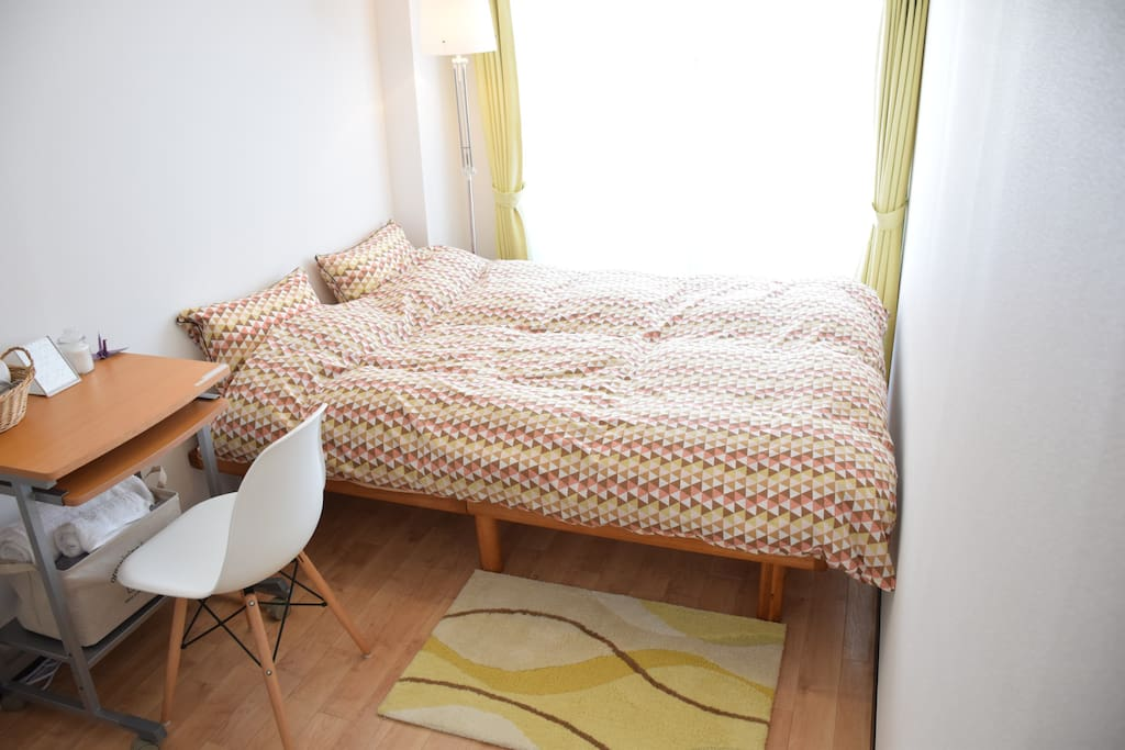 Sunny bed room One Bed,  Size: Double 140x195cm