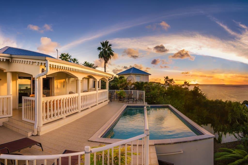 Sunset at Villa Canoua