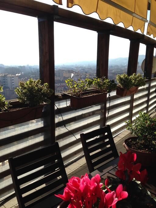 La vista dal terrazzo