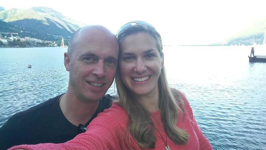 Your hosts Clare & Ruedi