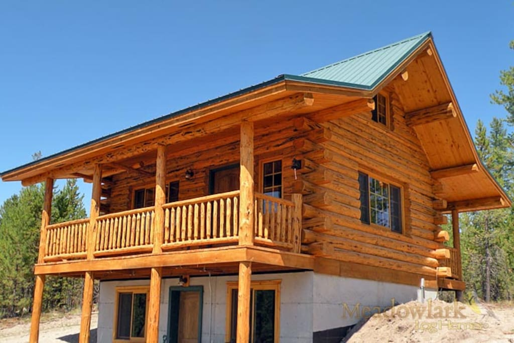 Kayak sup lake log cabin near glacier park chalet in for Persiane delle finestre di log cabin