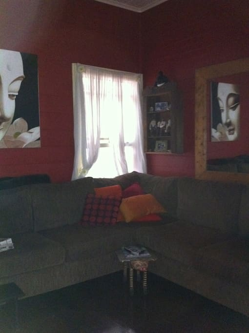 Large comfy lounge with big screen T.V.