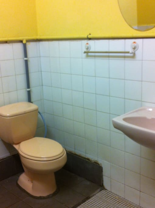 Cozy toilet with Hot and cold shower...