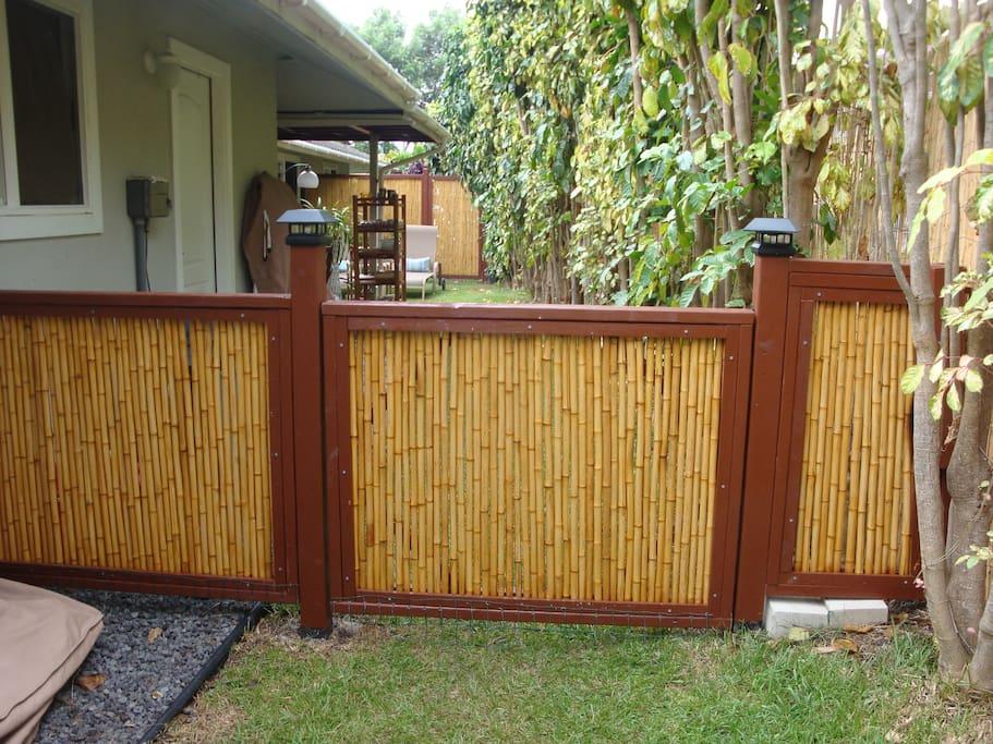 BAMBOO GATE ENTRANCE