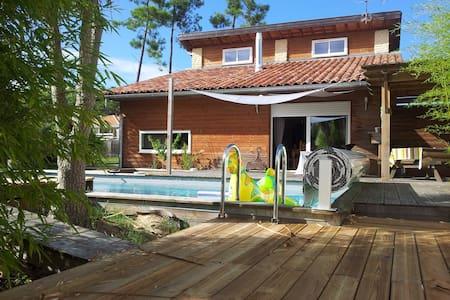 Charmante villa avec piscine  chauffée et jardin . - Labenne - Villa