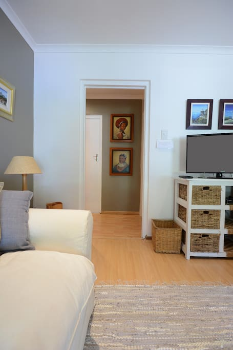Hallway from sitting-room to private bedroom.