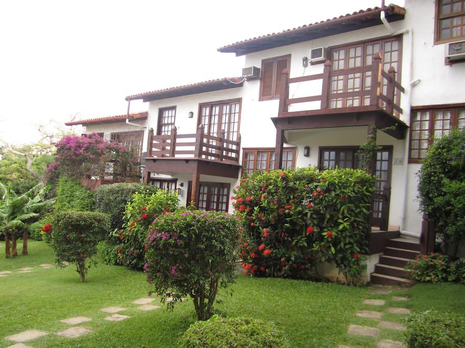 Casas geminadas do condomínio