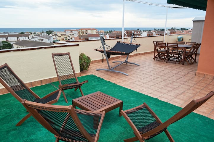 DUPLEX, SEA VIEW AND SWIMMING POOL - Creixell - Apartament