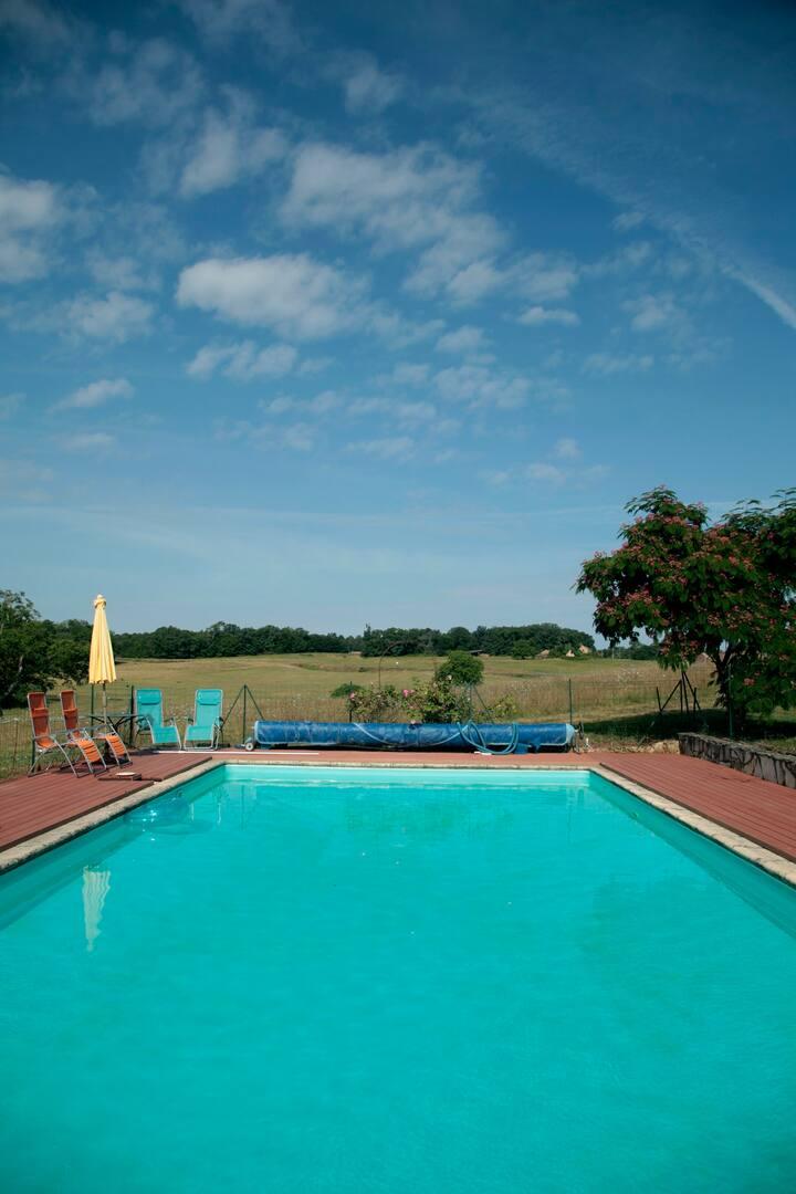 authentique ferme avec piscine