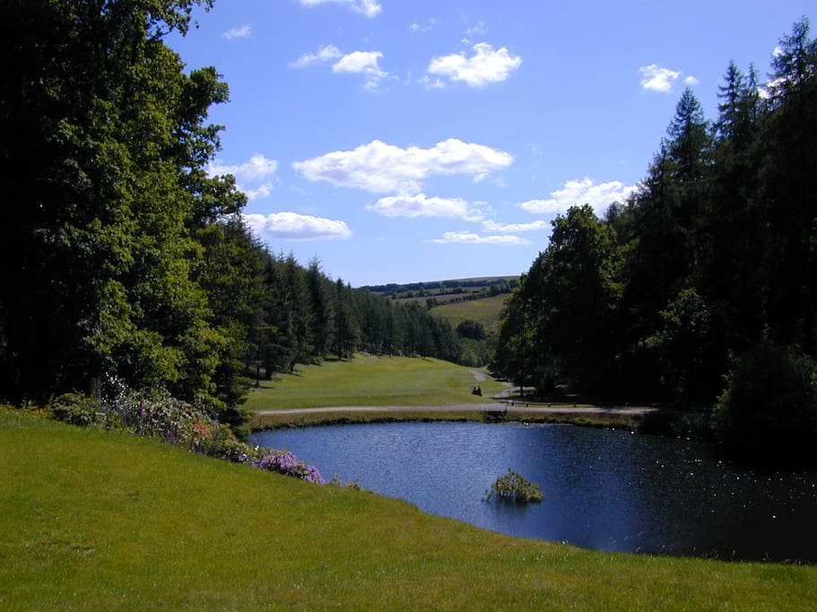St Mellion golf course is adjacent to the house