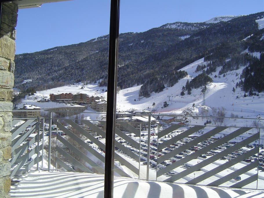 Views of slope from balcony