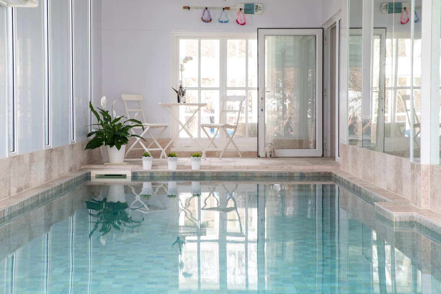 Fancy a dip in the indoor heated pool?