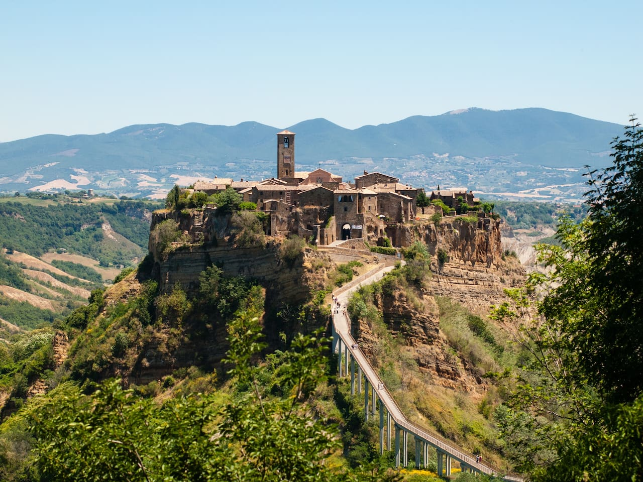 A most spectacular view in Civita