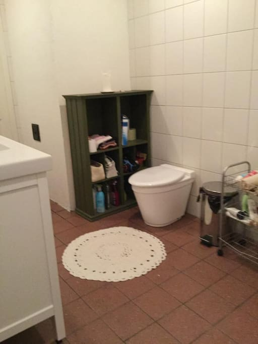 There is a composting toilet and shower downstairs.