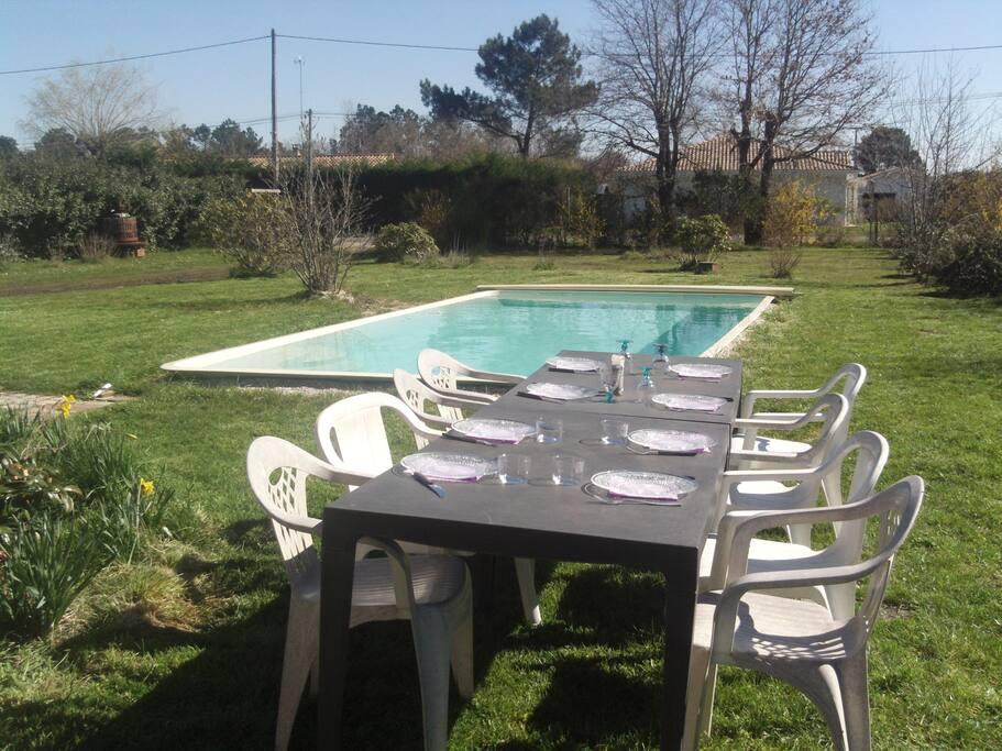 Maison avec piscine proche bassin d 39 arcachon maisons for Piscine a salles