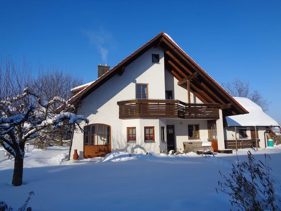 Haus von südwest, Winter
