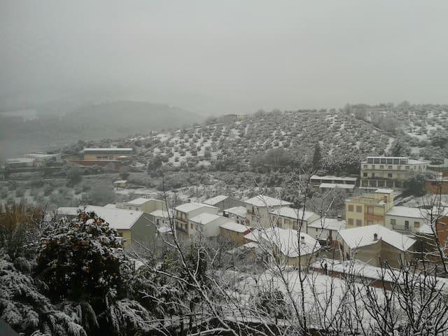 Las vistas. Un día de nieve