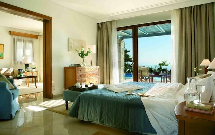 Aegean Melathron  1 Double Room With Sea View