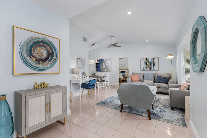 Welcome to the Blue Oasis - a beautiful coastal style waterfront home. We hope you love it as much as we do!