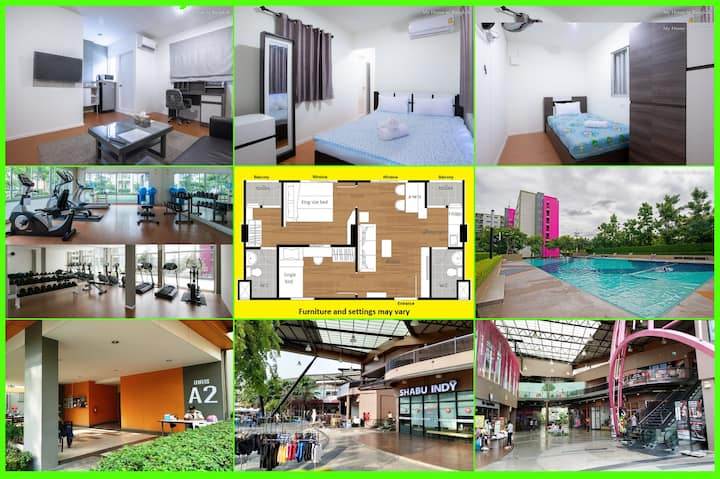 "Family Apartment ""My Home In Bangkok"" A3/101"
