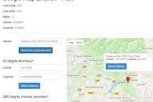 Plan et Coordonnées GPS