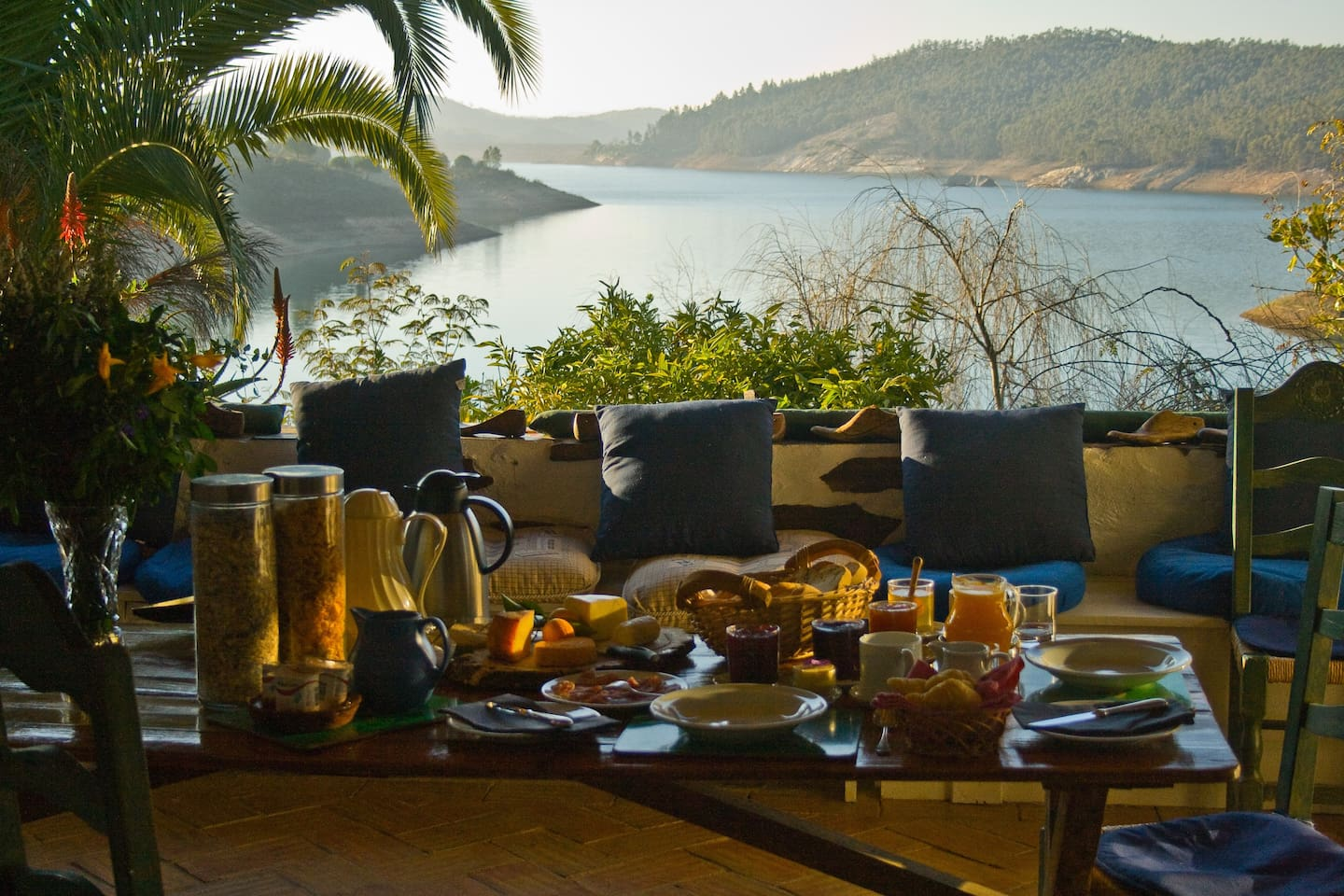 A good continental breakfast with a view to die for